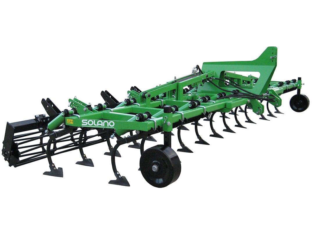 Cultichisel 2 filas brazo 30x30 con rodillo y ruedas metálicas