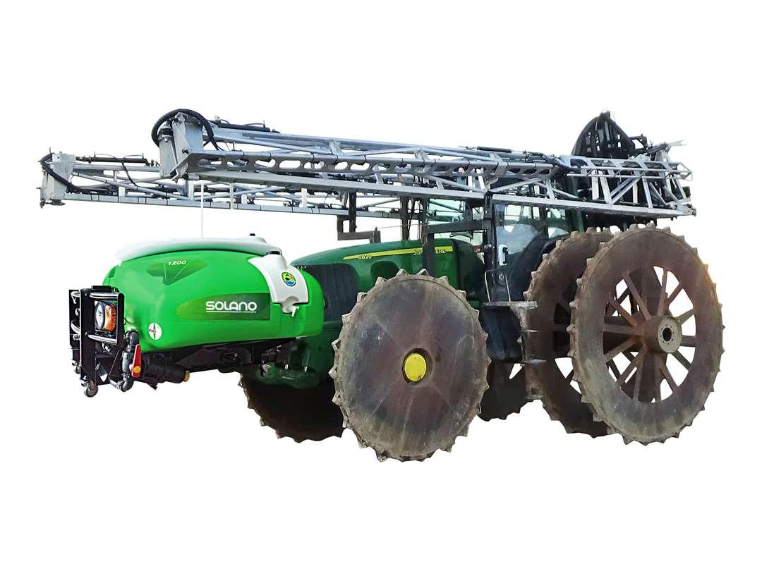 Depósito delantero Meryland con barras, especial para tratamientos en cultivos de arroz