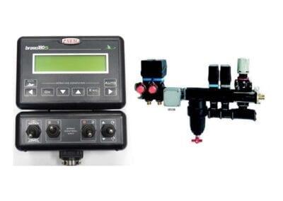 Ordenador Bravo 180S y válvulas 2 vías con caudalímetro Orion