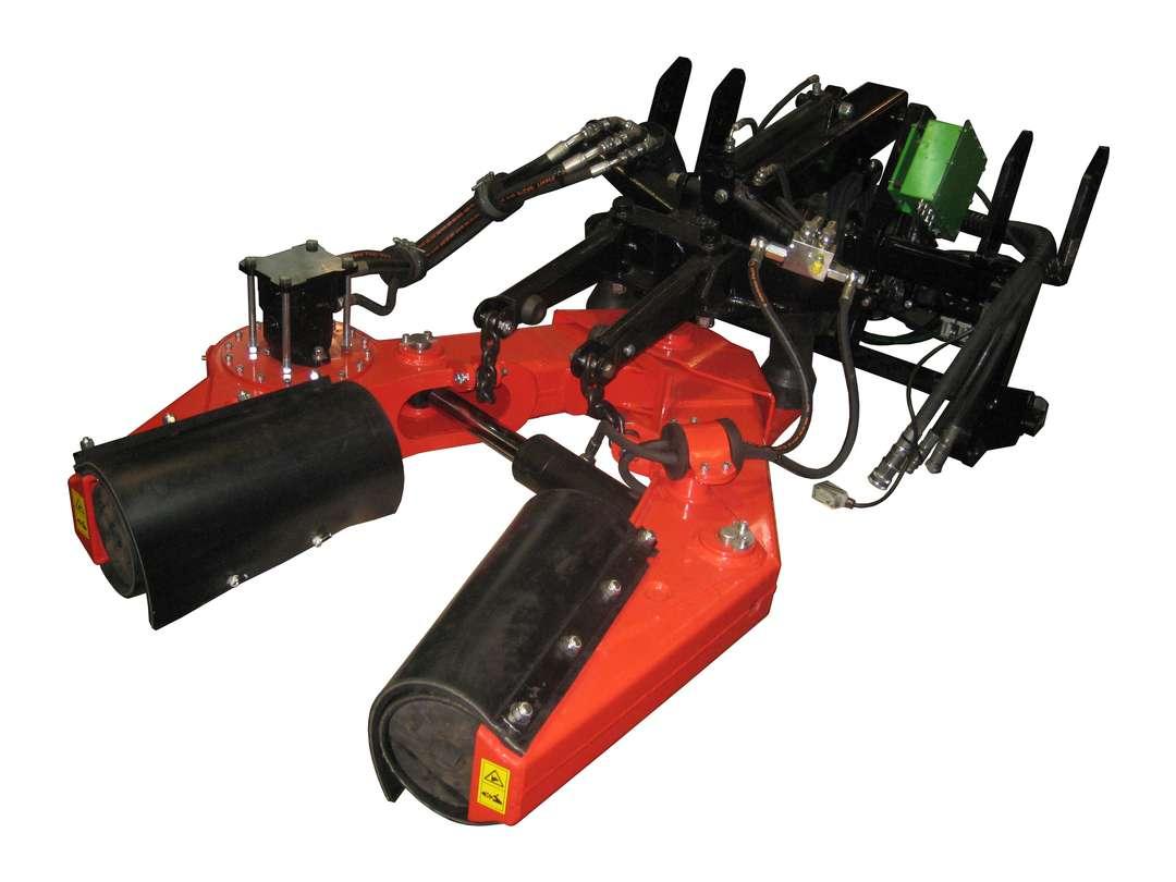 Pinza vibradora V45 para recolector de aceituna delantero
