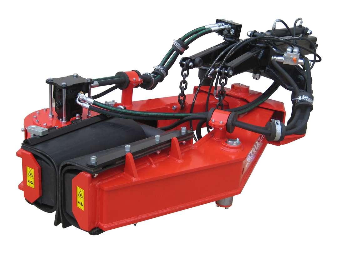 Pinza vibradora V55 para recolector profesional de aceituna delantero