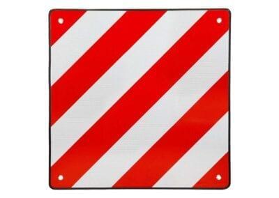 Placa señalización cuadrada