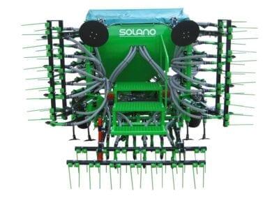 Tren de siembra en tres cuerpos plegado hidráulico Excepto 350 m con plegado manual. Tren de siembra en un cuerpo para mod. 3 m